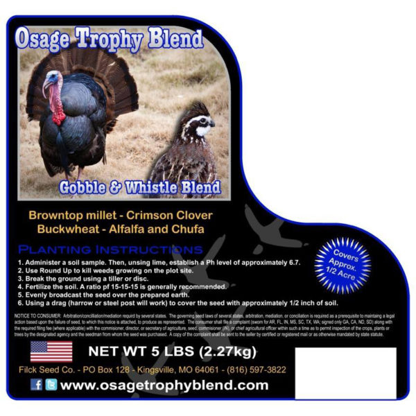 Turkey Gobble and Whistle food plot